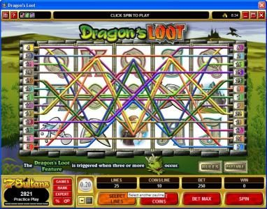 Heaven Bet featuring the video-Slots Dragon's Loot with a maximum payout of $20,000