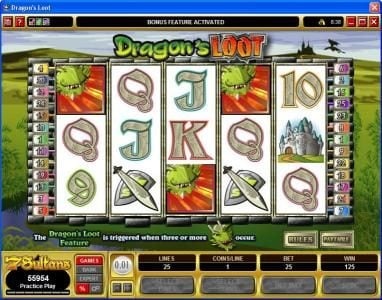 Lucky Nugget featuring the video-Slots Dragon's Loot with a maximum payout of $20,000