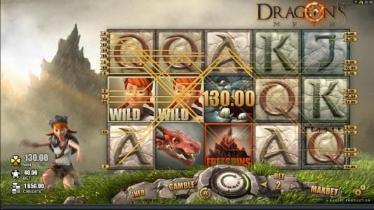 Zet Casino featuring the Video Slots Dragon's Myth with a maximum payout of $50,000