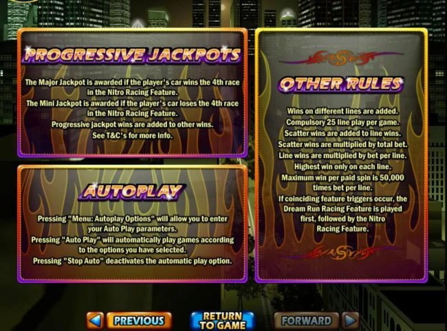 Casino Brango featuring the Video Slots Dream Run with a maximum payout of $250,000