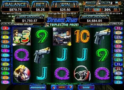 Cherry Jackpot featuring the Video Slots Dream Run with a maximum payout of $250,000