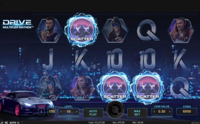 Argo featuring the Video Slots Drive Multiplier Mayhem with a maximum payout of $3,750,000