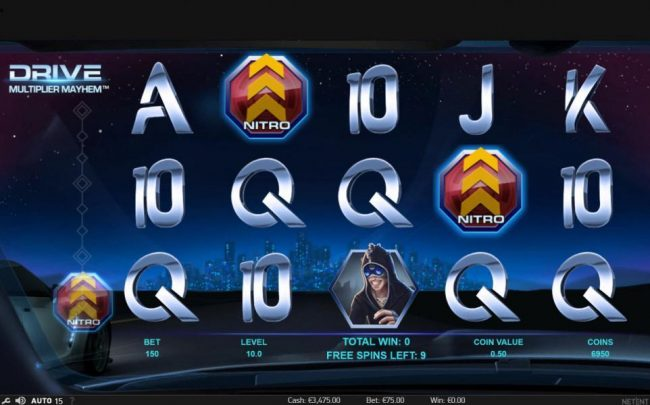 Betting Ways featuring the Video Slots Drive Multiplier Mayhem with a maximum payout of $3,750,000