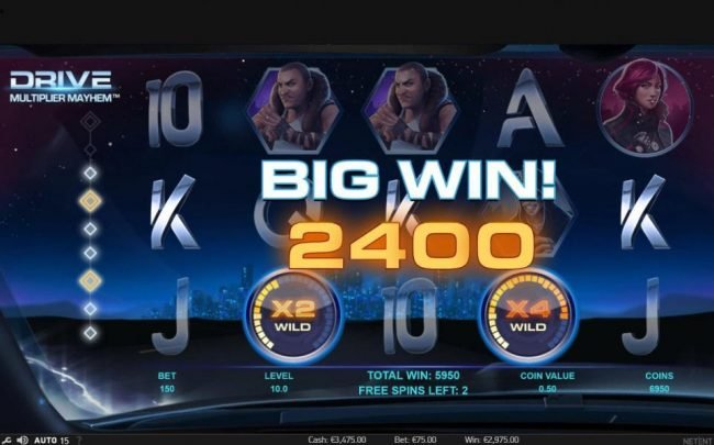 Mr Play featuring the Video Slots Drive Multiplier Mayhem with a maximum payout of $3,750,000