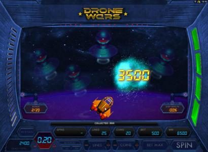 HippoZino featuring the Video Slots Drone Wars with a maximum payout of $4,000