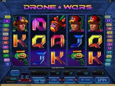 Play slots at Players Palace: Players Palace featuring the Video Slots Drone Wars with a maximum payout of $4,000