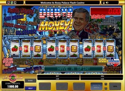 Golden Tiger featuring the Video Slots Dubya Money! with a maximum payout of $5,000