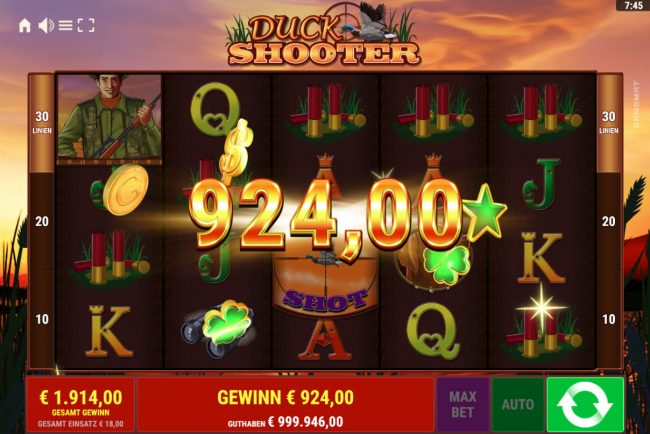 Duck Shooter :: 924 coin payout