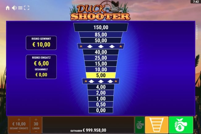 Duck Shooter :: Ladder Gamble Feature Game Board