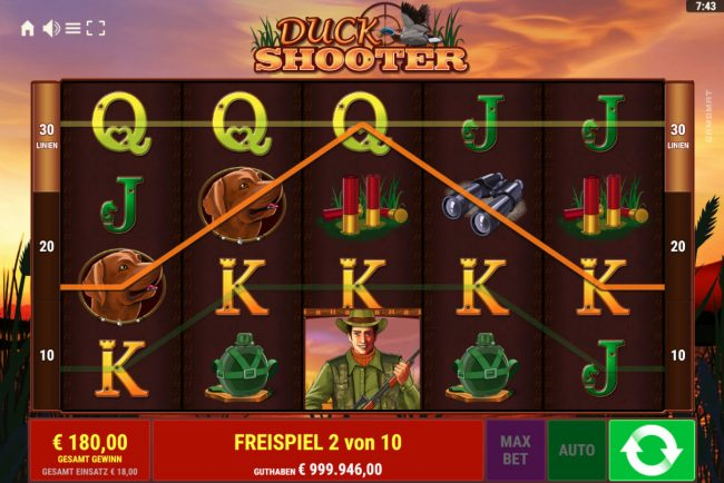 Duck Shooter :: Multiple winning paylines