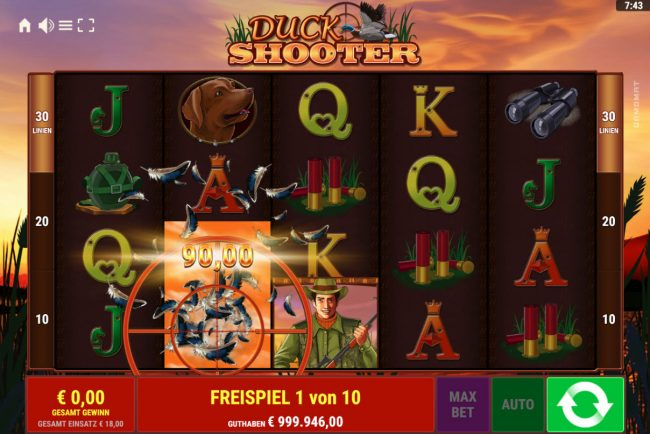Duck Shooter :: Free Spins Game Board