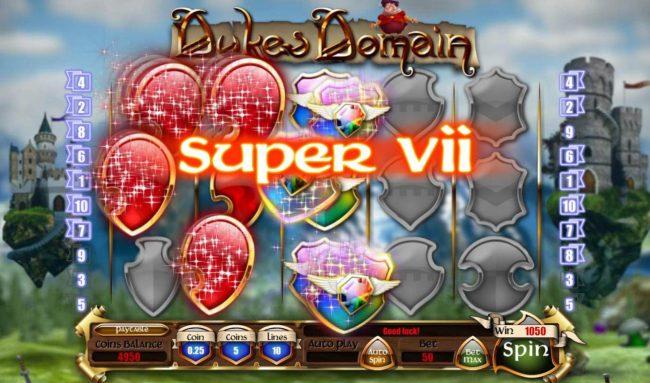 Dukes Domain :: A 1050 coin payout