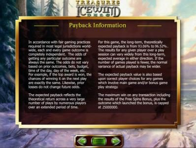 Dungeons & Dragons - Treasure of Icewind Dale :: payback information