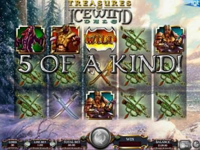 Dungeons & Dragons - Treasure of Icewind Dale :: five of a kind leads to a big win