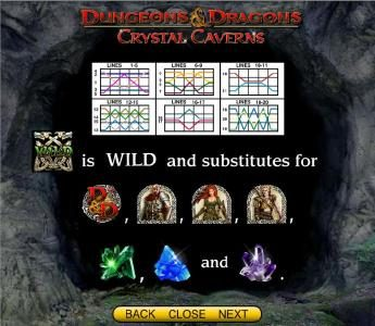 Secret Slots featuring the Video Slots Dungeons & Dragons - Crystal Caverns with a maximum payout of $250,000
