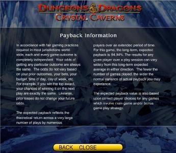 Fika Casino featuring the Video Slots Dungeons & Dragons - Crystal Caverns with a maximum payout of $250,000