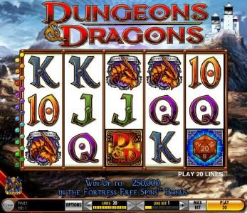 Play slots at Powerspins: Powerspins featuring the Video Slots Dungeons & Dragons - Fortress of Fortunes with a maximum payout of $12,500