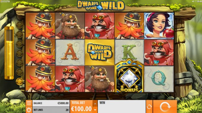Guts featuring the Video Slots Dwarfs Gone Wild with a maximum payout of $120,000
