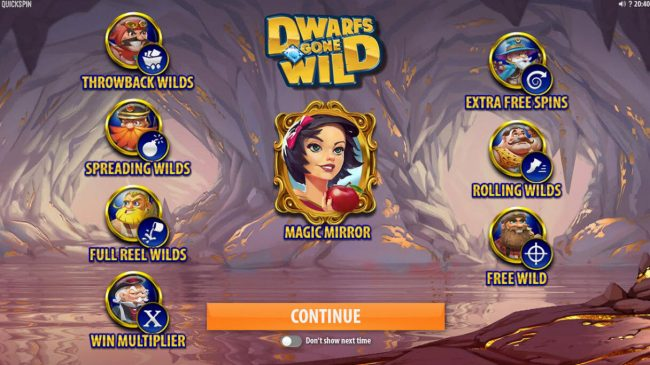Tivoli featuring the Video Slots Dwarfs Gone Wild with a maximum payout of $120,000