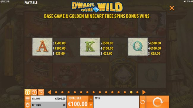 Joy Casino featuring the Video Slots Dwarfs Gone Wild with a maximum payout of $120,000