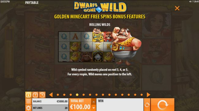 Viggoslots featuring the Video Slots Dwarfs Gone Wild with a maximum payout of $120,000
