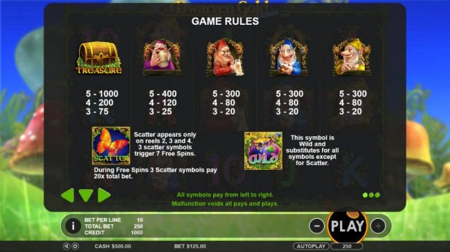 Mayflower featuring the Video Slots Dwarven Gold Deluxe with a maximum payout of $5,000
