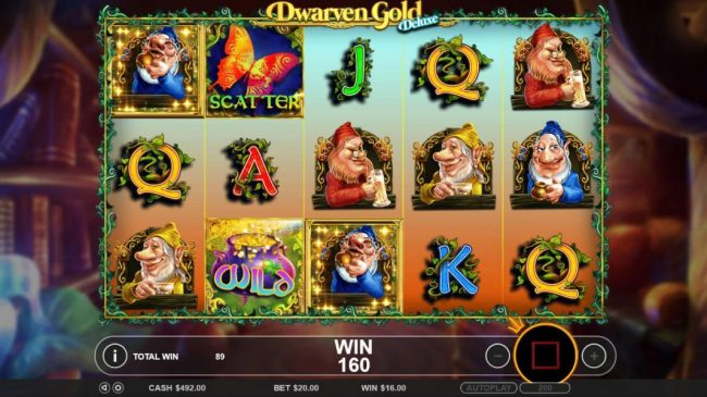 Casino States featuring the Video Slots Dwarven Gold Deluxe with a maximum payout of $5,000