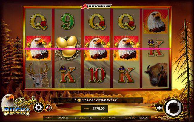 Eagle Bucks :: A winning Four of a Kind