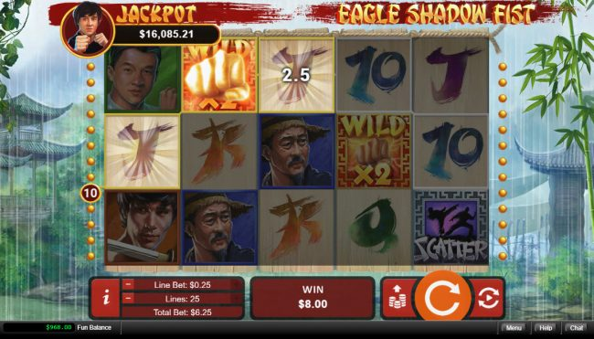 Play slots at Wild Joker: Wild Joker featuring the Video Slots Eagle Shadow Fist with a maximum payout of $50,000
