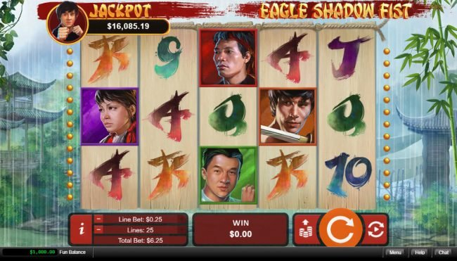 Play slots at Club UK: Club UK featuring the Video Slots Eagle Shadow Fist with a maximum payout of $50,000