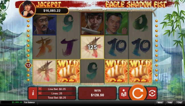 Planet7 Oz featuring the Video Slots Eagle Shadow Fist with a maximum payout of $50,000