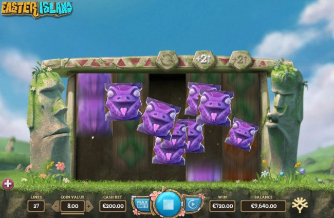 Casino Extra featuring the Video Slots Easter Island with a maximum payout of $47,000