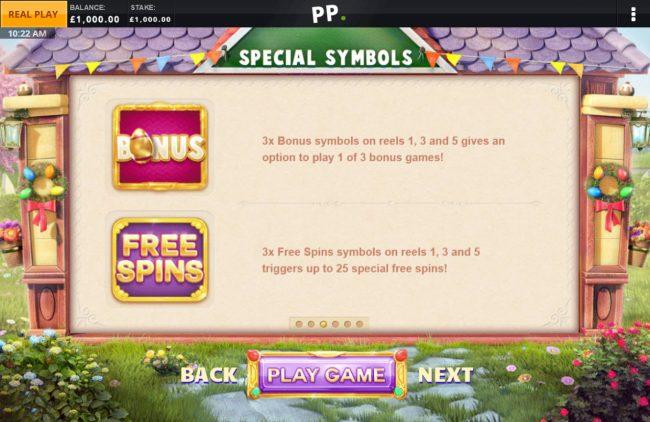 Bonus Symbol Rules