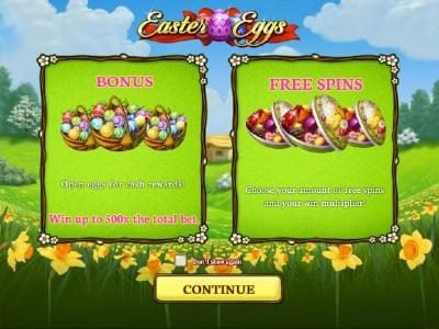 This game features Bonus feature where you can win up to 500x the total bet. Free Spins.