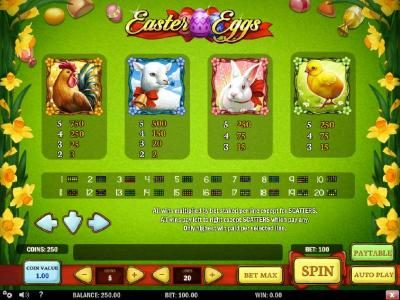 High value slot game symbols paytable and Payline Diagrams