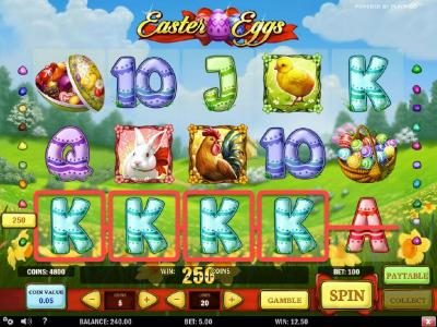 Omnia featuring the Video Slots Easter Eggs with a maximum payout of $3,000