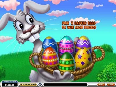 AdamEve featuring the Video Slots Easter Surprise with a maximum payout of $100,000