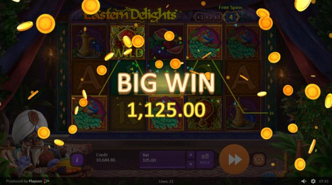 Play slots at Spintropolis: Spintropolis featuring the Video Slots Eastern Delights with a maximum payout of $157,500