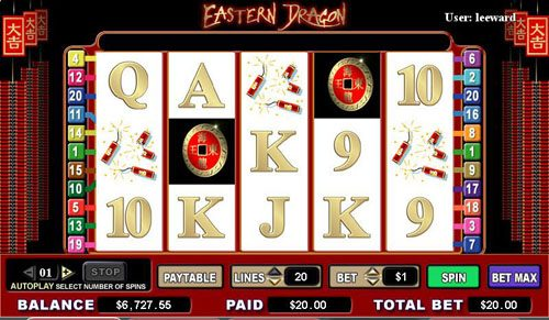 Royal Panda featuring the video-Slots Eastern Dragon with a maximum payout of 6,000x