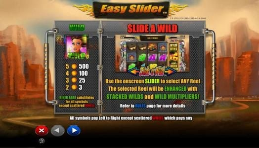 Norske Casino featuring the Video Slots Easy Slider with a maximum payout of $2,000