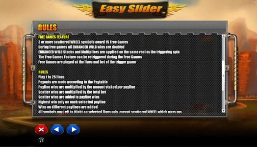 Spin Prive featuring the Video Slots Easy Slider with a maximum payout of $2,000