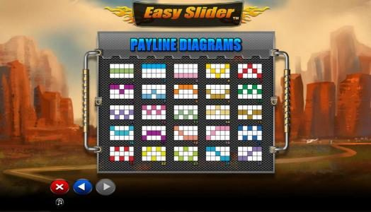 Africa Casino featuring the Video Slots Easy Slider with a maximum payout of $2,000