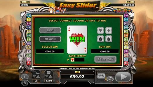 Split Aces featuring the Video Slots Easy Slider with a maximum payout of $2,000