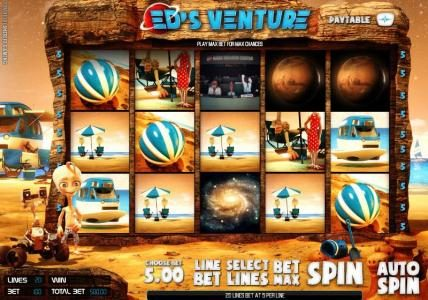 Play slots at Casino Kaiser: Casino Kaiser featuring the Video Slots Ed's Venture with a maximum payout of $6,250