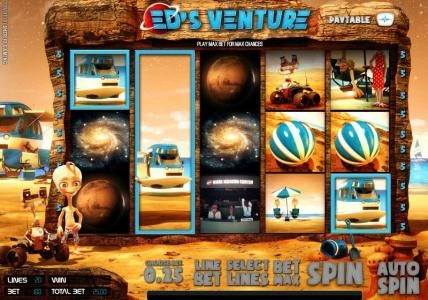 Solara featuring the Video Slots Ed's Venture with a maximum payout of $6,250