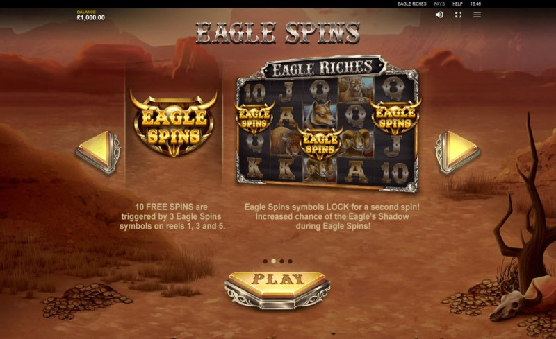 Eagle Riches :: Free Spins Rules
