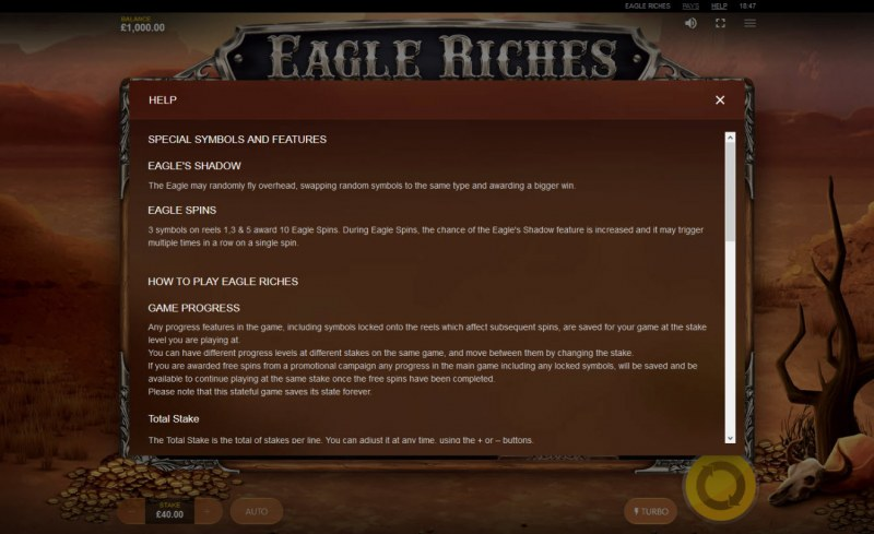 Eagle Riches :: General Game Rules
