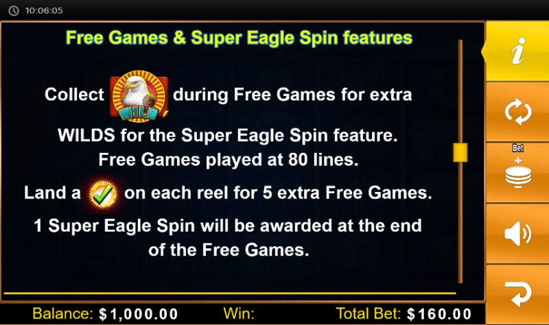 Eagle Sun :: Free Spins Rules