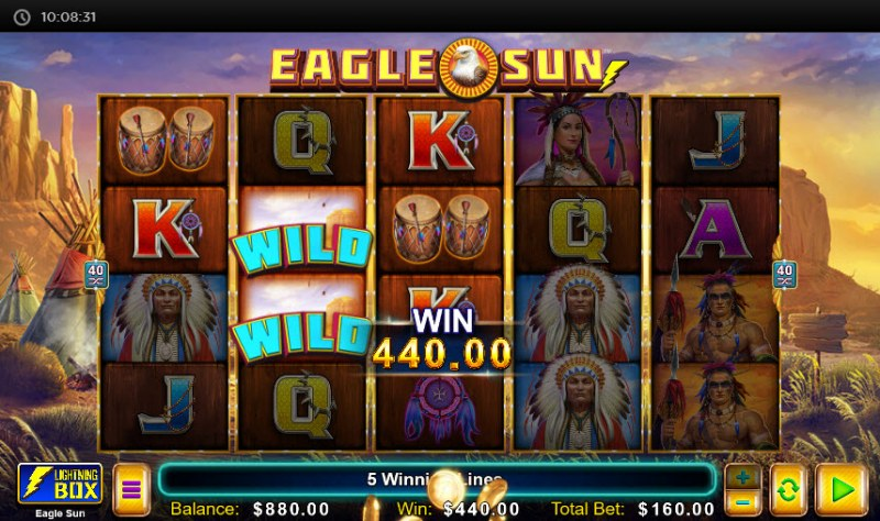 Eagle Sun :: Multiple winning paylines