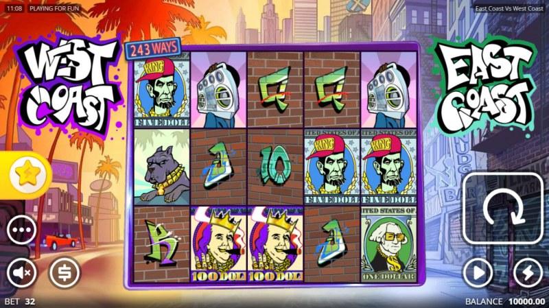 East Coast vs West Cost :: Main Game Board